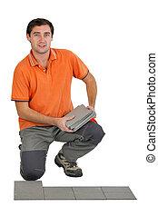 equipaggi posa, mattonelle pavimento