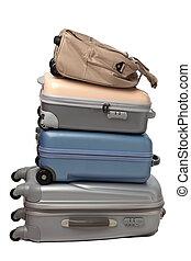 equipaje, y, viajar, bolsas