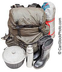 equipamento, branca, isolado, fundo, expedição