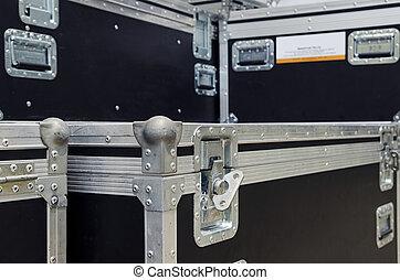 equipamento, caixas, concerto, fase