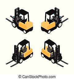 equipamento, carregador, truck., confiança, resistente,...
