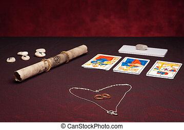 equipamento, casamentos, anéis, clairvoyance