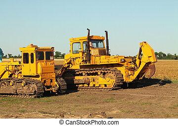 equipamento, construção, estrada