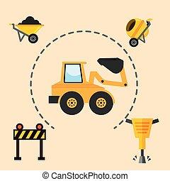 equipamento, construção, ferramentas