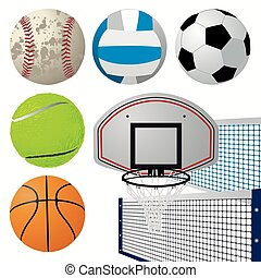 equipamento, desporto, jogo