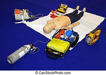 equipamento, emergência
