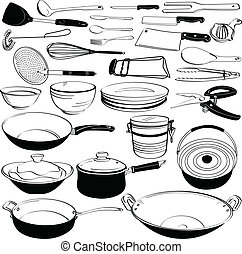 equipamento, ferramenta, utensílio cozinha