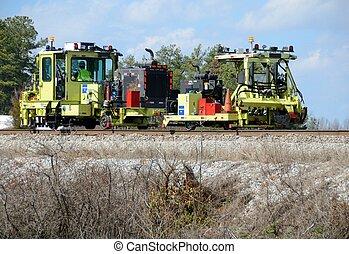 equipamento, ferrovia, manutenção