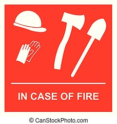equipamento, firefighting
