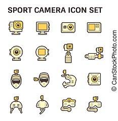 equipamento, fotografia, ícone