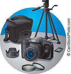 equipamento, fotografia