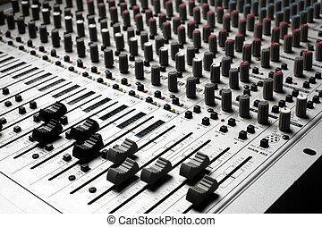 equipamento gravação, áudio