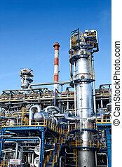 equipamento, indústria, óleo