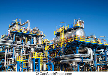 equipamento, indústria, óleo, instalação