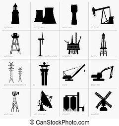 equipamento, indústria