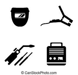 equipamento, jogo, soldadura