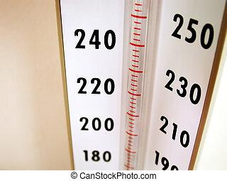 equipamento médico, -, pressão, medidor