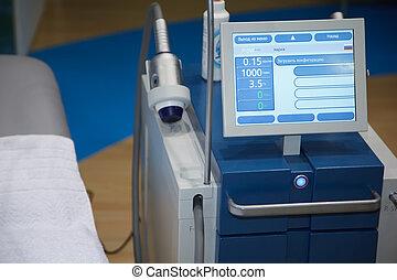 equipamento médico, ultrasom, scanning., diagnóstico, de, pregnancy.