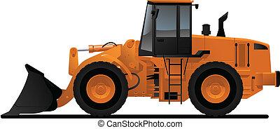 equipamento pesado, carregador