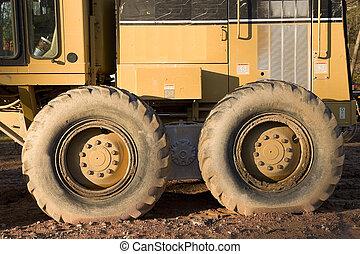 equipamento pesado, rodas