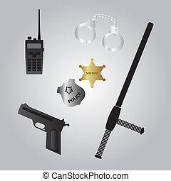 equipamento, polícia, eps10, ícone