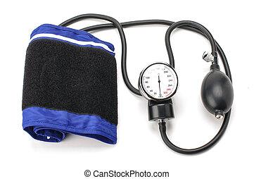 equipamento pressão sangue, isolado, este prego