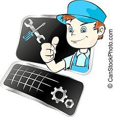 equipamento, reparo computador