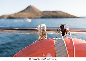 equipamento, segurança, bote