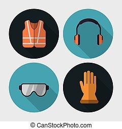 equipamento, segurança, desenho