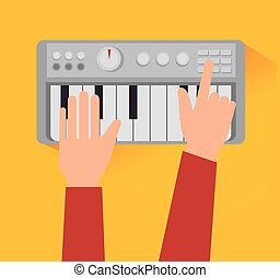equipamento, tecnologia, música