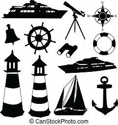 equipamento, velejando