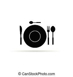 equipamento, vetorial, cozinha