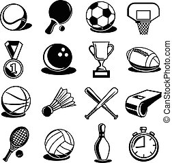 equipamento, vetorial, desporto