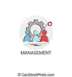 equipe administração, liderança, negócio, ícone