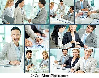 equipe affaires, au travail