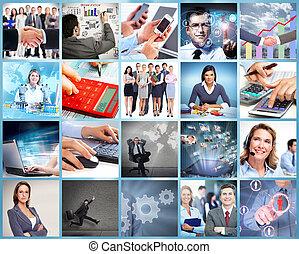 equipe affaires, collage.