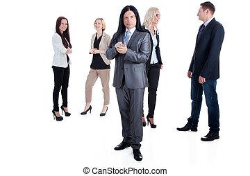 equipe affaires, dans action