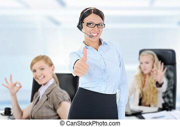 equipe affaires, dans, une, bureau