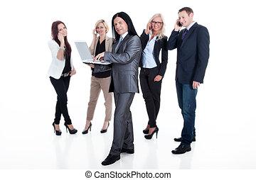 equipe affaires, moderne