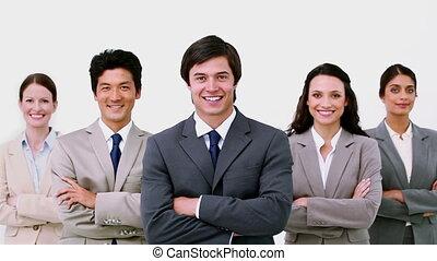 equipe affaires, portrait