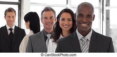 equipe affaires, travailler ensemble