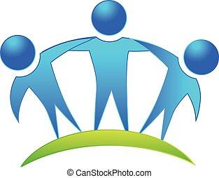 equipe, comércio pessoas, logotipo
