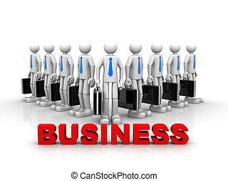 equipe, conceito, negócio, sucesso