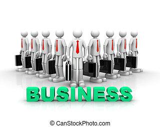 equipe, conceito, sucesso, negócio