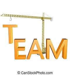 equipe, construção