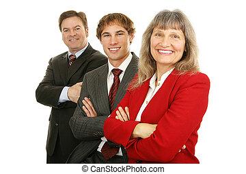 equipe, feliz, negócio