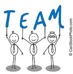 equipe, grupo, texto