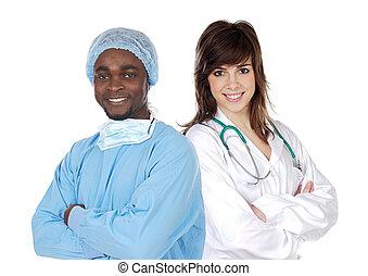 equipe médica, de, cirurgião
