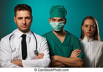 equipe médica, doutores