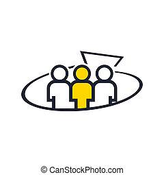 equipe, marketing, abstratos, trabalho, sinal